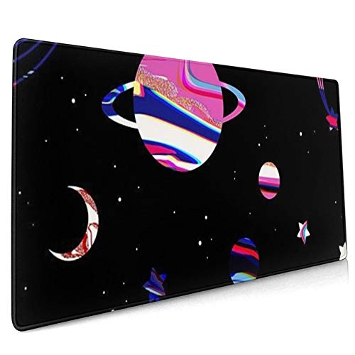 Mouse pad Large Gaming Mouse pad Lollipop Galaxy Computer Keyboard Mouse pad Non-Slip Mouse pad Office -35.4x15.7x0.12 inch