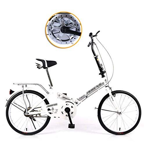 CHINESS Bike Bicicleta Plegable, 20' Bicicleta Velocidad úNica Velocidades Plegable Urbana Folding Bicicleta Plegable Cuadro Aluminio Ruedas, Bicicleta Plegable Street,Adultos
