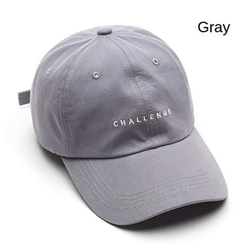 Nueva Gorra de béisbol para Mujeres y Hombres, Viseras de Moda de Verano, Gorra para niños y niñas, Gorra Snapback Informal, Sombreros de Hip Hop-Gray-Adjustable