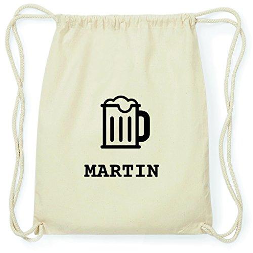 JOllify Turnbeutel - Happy Birthday - für Martin - Bier Gruß