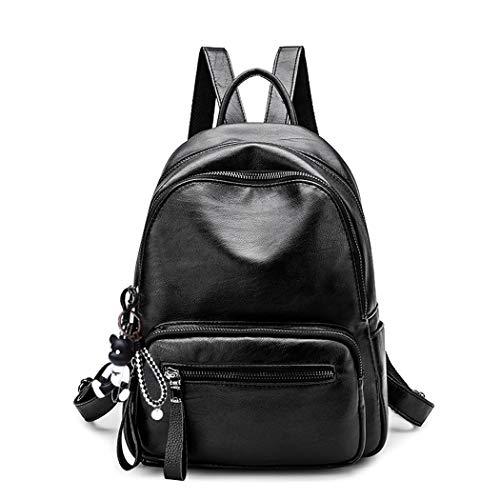 BUKESIYI Damen Tasche Rucksack Handtasche Frauen backpack Klein Anti Diebstahl Schulrucksack Laptop Weekender PU Leder CCDE78190 Schwarz