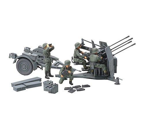 タミヤ 1/48 ミリタリーミニチュアシリーズ No.54 ドイツ陸軍 20mm 4連装 高射機関砲38型 プラモデル 32554