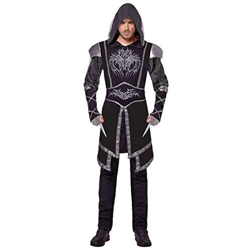 NET TOYS Hochwertiges Assassinen Kostüm für Herren - Schwarz L (52) - Geheimnisvolle Männer-Verkleidung Extravagantes Assassin's Creed Kostüm für Herren - Perfekt geeignet für Mottoparty & Kostümfest