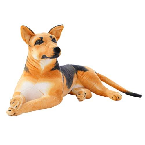 Mikiya Lifelike German Dog Shepherd Soft Plush Toys Stuffed Animals Pillow Birthday Gift Home Furnishings Sofa Car Cushion