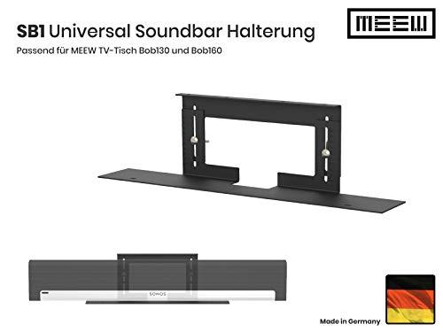 Soundbarhalterung (Nur für Meew-Möbel) passend für alle Modelle der Serie Bob130 und Bob160, für nahezu Jede Soundbar wie Sonos Playbar, Sonos Beam, Bose Soundtouch und alle Samsung Soundbars