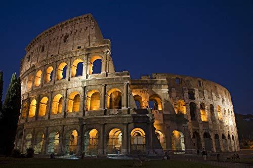 Posterazzi PDDEU16BJY0306 Italy, Rome, Colosseum. Night Scene at Landmark Photo Print, 18 x 24, Multi