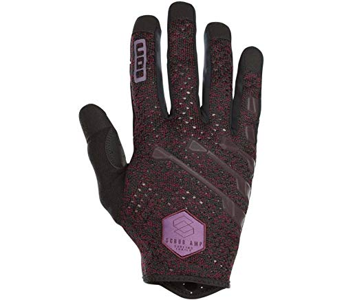 Ion Scrub Amp MX DH FR Fahrrad Handschuhe lang Bordeaux rot/schwarz 2019: Größe: M