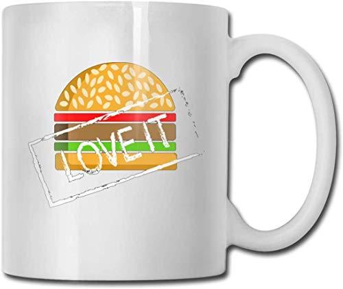 Becher Keramik Mode Tasse Kaffee Porzellan Tasse 11 Unzen Geschirr Geschenk Hamburger Love It