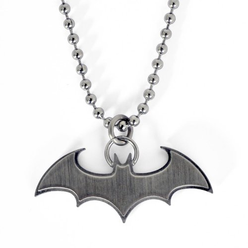 BATMAN - Fledermaus Anhänger inkl. Kette von DC Comics, Geschenkbox, Edelstahl