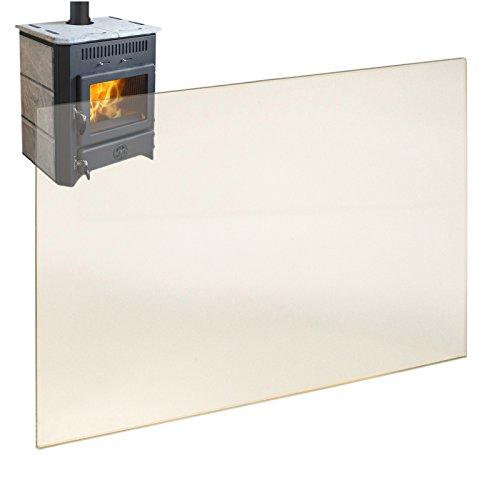 Kaminglas Ofenglas hitzebeständiges Glas bis 800° Ofen Kamin Kaminscheibe 305 x 305x 4 mm Sondergrößen nur auf Anfrage