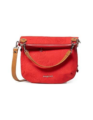 Desigual Bols_Hela FOLDED - Mochila para mujer, color rojo