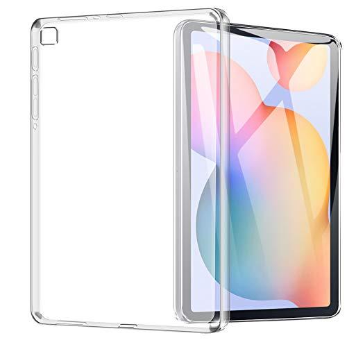 TOPACE Hülle für Samsung Galaxy Tab S6 Lite, Ultra Schlank Softschale Silikon TPU Stoßfest Schutzhülle Anti-Fingerabdruck Shock-Absorption Cover für Samsung Galaxy Tab S6 Lite(Transparent)