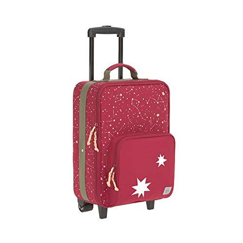 LÄSSIG Kinder Trolley Kindergepäck Reisekoffer mit Packriemen und Rollen ab 3 Jahre/Kids Trolley, Magic Bliss, 29,5 x 19,5 x 46 cm, rot