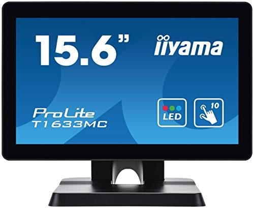 "Preisvergleich Produktbild iiyama Prolite T1633MC-B1 39, 5cm (15, 6"") LED-Monitor WXGA 10 Punkt Multitouch kapazitiv (VGA,  HDMI,  DisplayPort,  USB2.0,  IP54) schwarz"