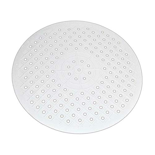 Alfombra de fregadero de goma flexible, mantel, desagüe rápido, antideslizante, protección para cocina, secado en casa, mesa multifuncional, cuarto de baño, aislamiento térmico (redondoblan)