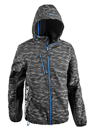 Greenpark Herren Softshell Funktionsjacke Freizeitjacke Outdoorjacke Mark, ideale Übergangsjacke, Arbeitsjacke oder Herbstjacke in grau, M-3XL