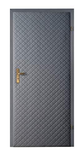 Türverkleidung Türpolsterung Schallschutz Wärmedämmung Tür Reparatur für Innentüren Farbe grau Neu