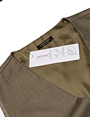 Coofandy Men's Waistcoat Casual Classic Slim Fit Formal Solid Waistcoat Vest with Pocket, Khaki, M #1