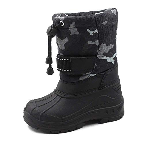SkaDoo Kids Snow Boots Unisex Toddler-Big Kid Gray Camo