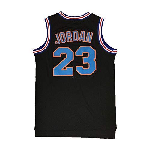 AIFFEE Men's 23 Space Jam Basketball Jersey Sports Shirts White Black Color Size S,M,L,XL,XXL,XXXL (M, Black)