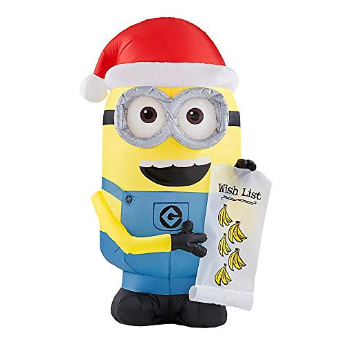Minion Dave with Christmas Wish List Inflatable