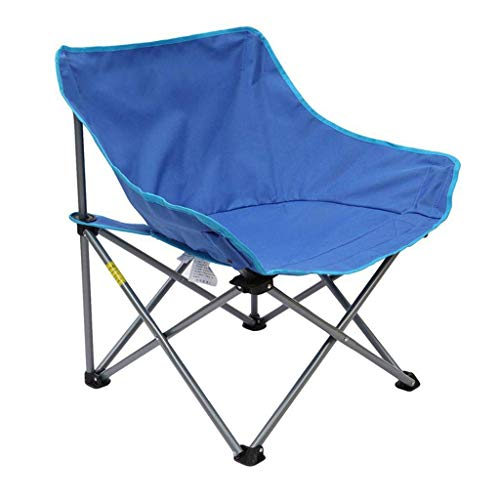 YLCJ ALL 'OPENED CAMPING CHAIR, FOLDING BEACH CHAIR FISHING CHAIRS Luxe gevoerde zitting Comfortabele ligstoel Campingtrips Vissen Tuin Picnic Festival Wandelen Blauw