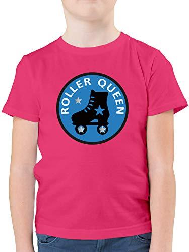 Sport Kind - Roller Queen Rollschuh - 152 (12/13 Jahre) - Fuchsia - Shirt Rollschuhe Kinder - F130K - Kinder Tshirts und T-Shirt für Jungen
