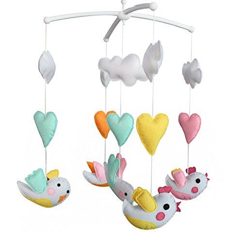 Berceau de lit de bébé rotatif coloré jouets de bébé [Oiseaux colorés]