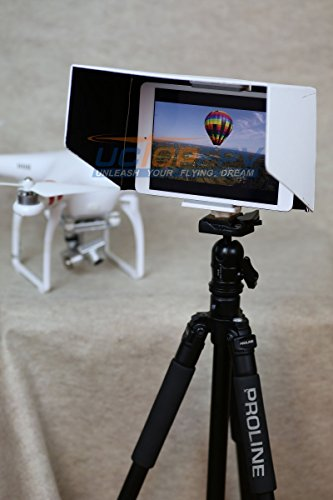 SummitLink 10 Inch Tablet iPad Sun Hood Sun Shade (Fits up to 11 inch) White with Tripod Mount for all version iPad 1 2 3 Air 2 Compatible with DJI Phantom 4 DJI Phantom 3 Professional Advanced Inspire 1 Phantom 2 Vision+ FC40 Transmitter Mount