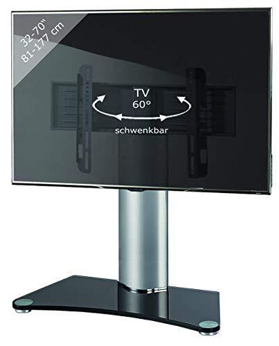 VCM TV Standfuß Tischfuß Fernseh Aufsatz Fuß Erhöhung schwenkbar drehbar Schwarzglas