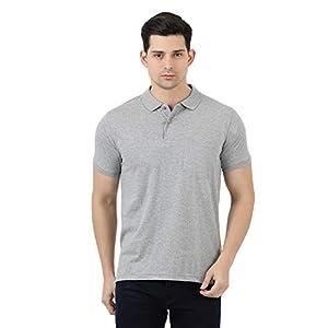 CLOAK & DECKER by Monte Carlo Grey Solid Cotton Polo Collar Tshirts 2 41DoiRRNk2L. SS300
