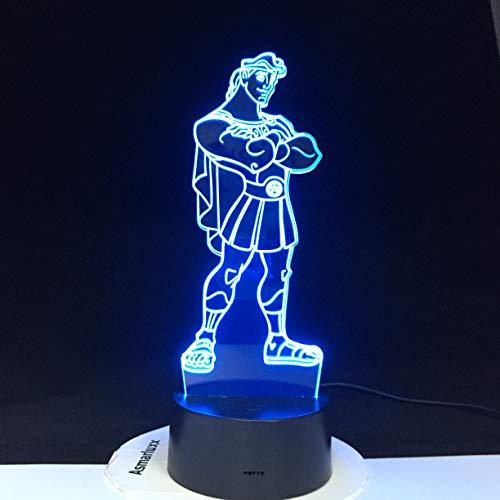 jiushixw 3D kleurverandering nachtlicht met afstandsbediening IKEA papier bureaulamp Mario slaapkamer schattige cartoon grote crème tafellamp