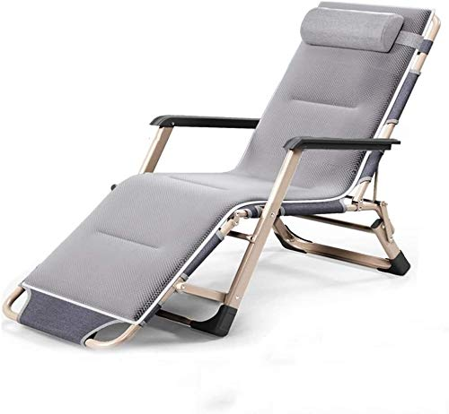 OESFL Reclining Outdoor Folding Chairs Lounge Chair Zero Gravity Chair Lounge Chair Outdoor Seating-Recliner/Multi-Function/with Cotton Pad