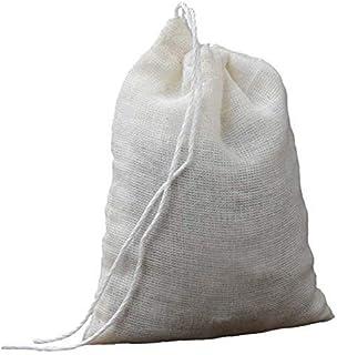 Coton Mesh Filter Bag Tea Milk Wine Coffee Strainer Reusable Net Manual Kitchen Household Accessories 21X26cm