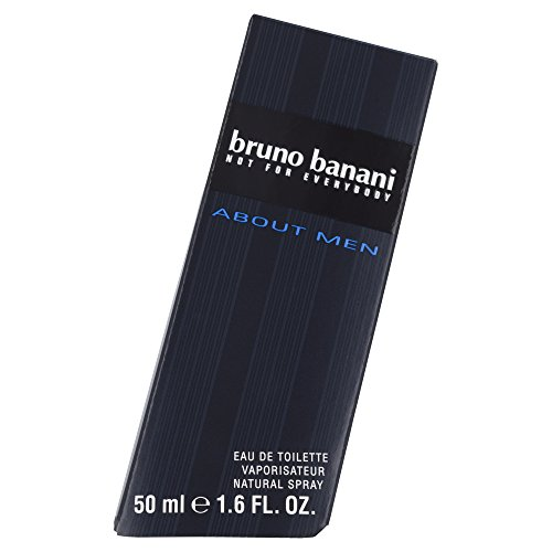 bruno banani About Men – Eau de Toilette Natural Spray – Würzig-fruchtiges Herren Parfüm – 1er Pack (1 x 50ml)