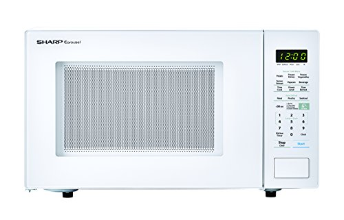 SHARP White Carousel 1.4 Cu. Ft. 1000W Countertop Microwave Oven (ISTA 6 Packaging), Cubic Foot, 1000 Watts