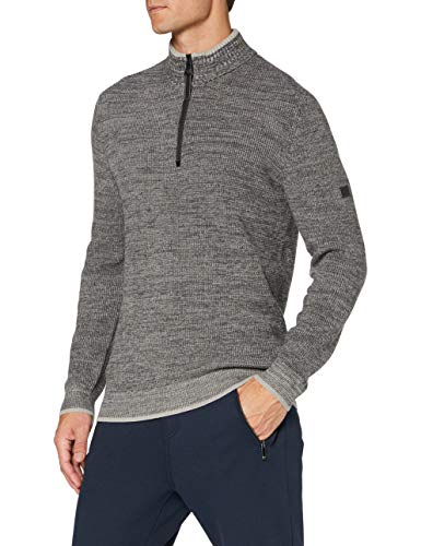 camel active Herren 4095094K0907 Pullover, Heather Grey, L