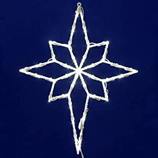 Vickerman 35 Lights LED Star of Bethlehem Window Decor, White