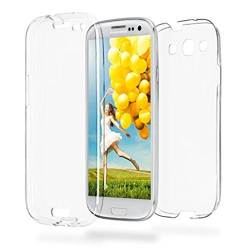 MoEx® Double Case kompatibel mit Samsung Galaxy S3 / S3 Neo Hülle Silikon Transparent | Beidseitige Handyhülle mit 360 Grad Komplett Rundum-Schutz, Transparent
