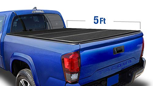 Tyger Auto T5 Alloy Hardtop Truck Bed Tonneau Cover for 2016-2018 Toyota Tacoma Fleetside 5' Bed TG-BC5T1530, Black