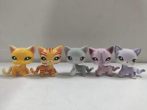 Littlest Pet Shop Short Hair Cats LPS Animal Figure Toys 5 pcs/Set