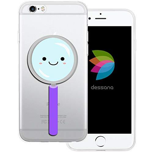 dessana schattige wetenschap transparante beschermhoes mobiele telefoon case cover tas voor Apple, Apple iPhone 6/6S, Schattig vergrootglas.