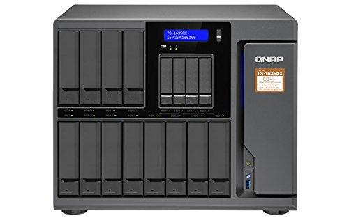 QNAP TS-1635AX-8G, 16-Bay Desktop NAS-System, Marvell ARMADA 8040 Prozessor, USB 3.1 Gen2, schwarz
