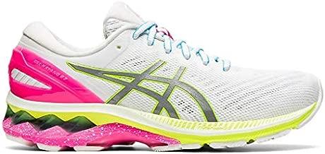 ASICS Women's Gel-Kayano 27 Lite-Show Running Shoes, 8.5M, White/Pure Silver
