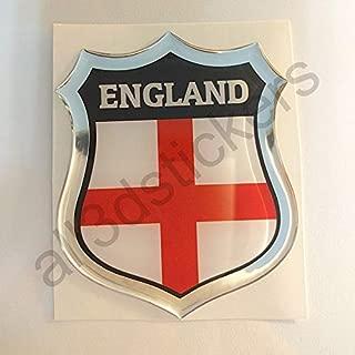All3dstickers Pegatina Inglaterra Relieve 3D Escudo Bandera Inglaterra Resina Adhesivo Vinilo