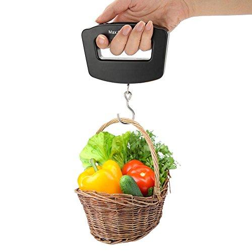 Balanza digital, mini balanza de mano digital portátil anzuelo colgante colgante balanza balanza electrónica con pantalla LCD para el hogar y al aire libre