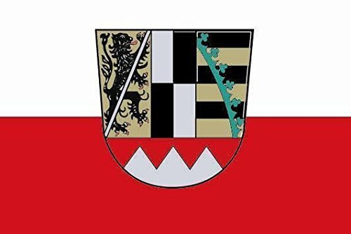 U24 Aufkleber Oberfranken Flagge Fahne 12 x 8 cm Autoaufkleber Sticker