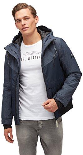 TOM TAILOR DENIM für Männer Jacket Blouson-Jacke mit Kapuze blue denim XXL