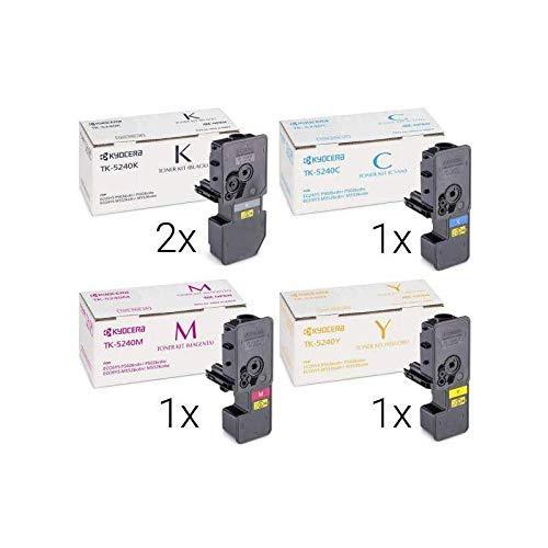 5X ORIGINAL KYOCERA Toner TK-5240 Multipack (2X SCHWARZ, GELB, Cyan, Magenta)