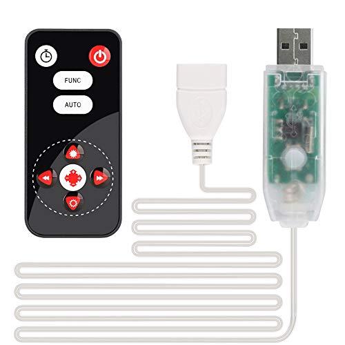 BLOOMWIN Telecomando Con 8 Modalità E Cavo Prolunga USB Accessori Per Catena Luminosa Candele A LED